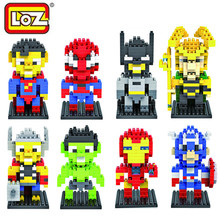 LOZ Diamond Mini Building Blocks The Avengers Q Version Batman Hulk Iron Man Captain America 3D DIY Model Plastic Brick Toys(China (Mainland))