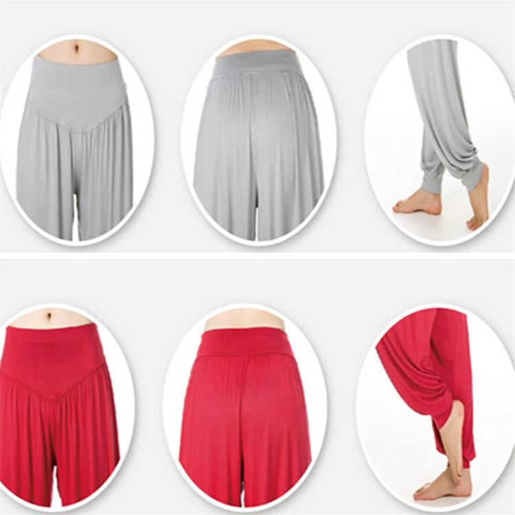 Yoga Pants Women Plus Size Colorful Bloomers Dance Yoga TaiChi Full Length Pants Smooth No Shrink Antistatic Pants Fast Shipping 2015