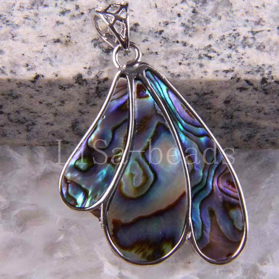 Free Shipping New without tags Fashion Jewelry Blue New Zealand Abalone Shell Pendant 1Pcs RK616(China (Mainland))