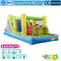 YARD Free shipping residential inflatable obstacle course bouncer bounce house jumper with tunnel