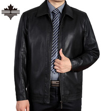 2016 New Arrivals Spring Autumn Brand Leather Jacket Men Square Collar Solid Color High Quality PU Men Jackets Fashion Brand(China (Mainland))