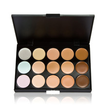 New 15 Colors Contour Face Cream Makeup Concealer Palette Powder Brush WLDE