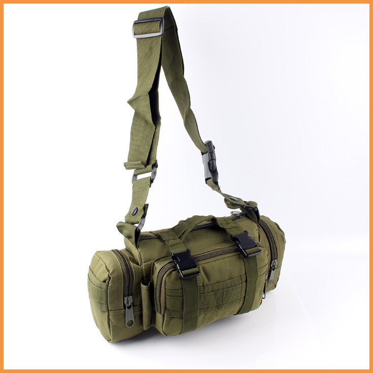 Free shipping NEW 3P Tactical Waist Bag Sports Shoulder Bag Military Outdoor MOLLE Army Green(China (Mainland))