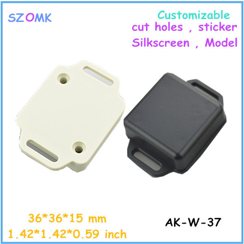 small electronics enclosures for pcb (20 pcs)36*36*15mm electronics outlet enclosures plastic enclosure switch box(China (Mainland))