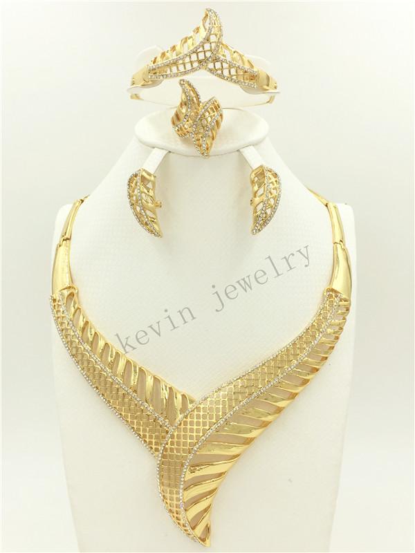 2016 African Wedding Pearl Jewelry Design in Nigeria, Dubai unique classic design 24K gold plated jewelry fashion jewelry woman(China (Mainland))