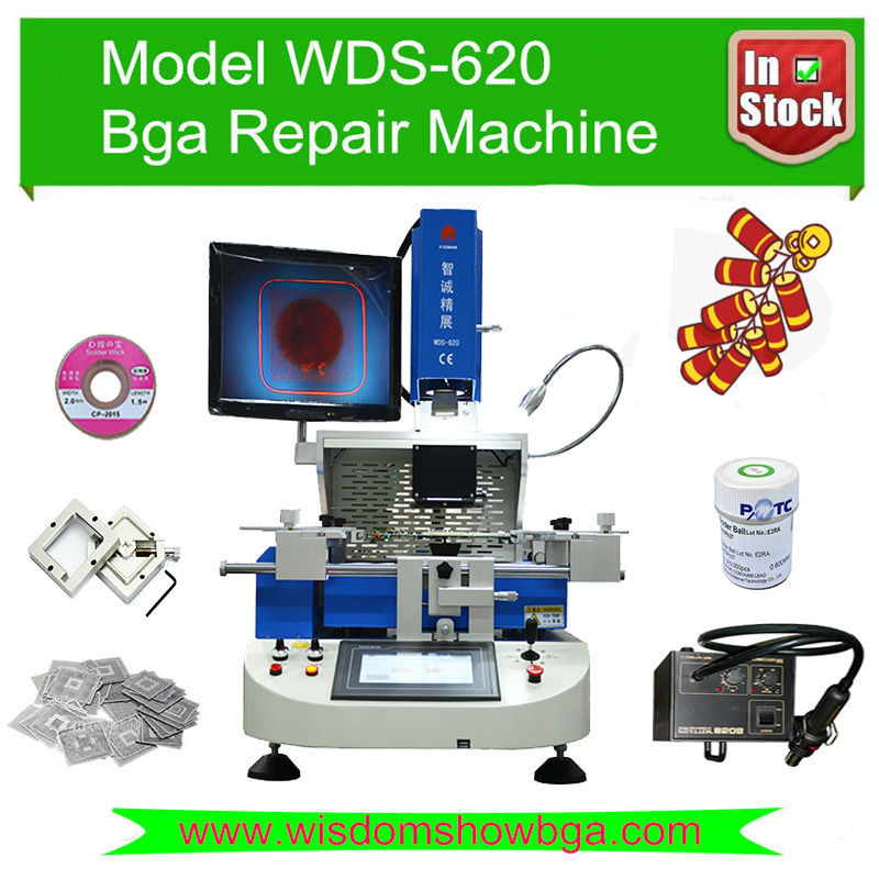 Semi automatic bga rework station optical alignment system WDS-620 laptop motherboard ps3 gpu repair - Shenzhen Wisdomshow Technology Co., Ltd. store