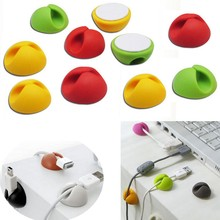 10 PCS Lovely Rabbit Cable Drop Clip Organiser USB Charger Wire Cord Digital Cable Protector Cord Protective Cable Winder(China (Mainland))