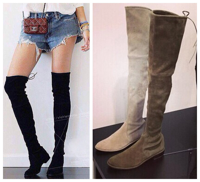Flat Thigh High Boots For Women - Yu Boots