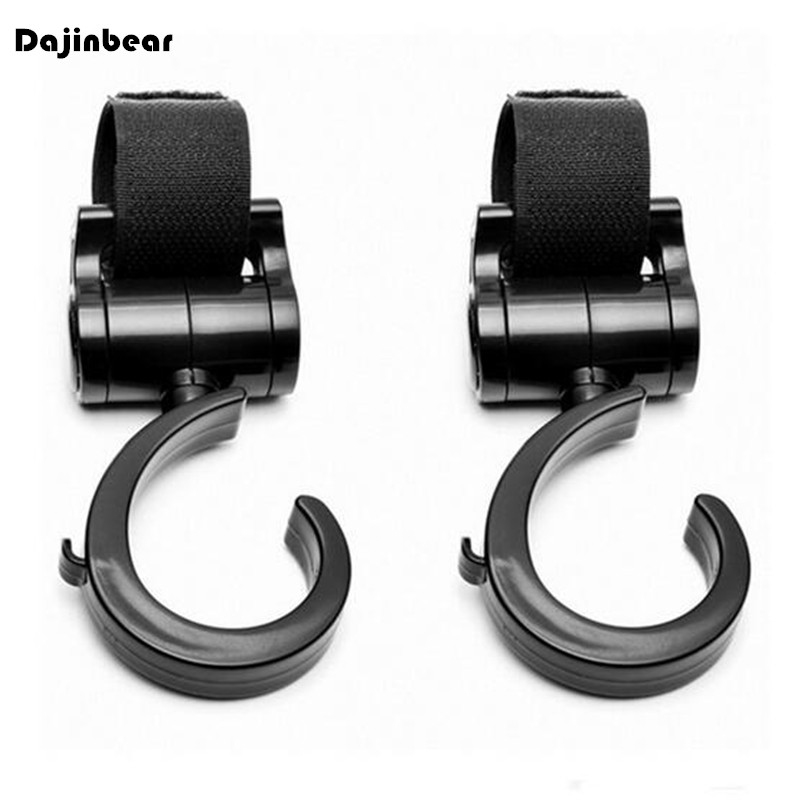 2 PCS Multi Purpose Baby Stroller Hook Pushchair 360 Swivel Hanger Hooks Carriage Storage Bag Baby Carriage Stroller Accessories(China (Mainland))