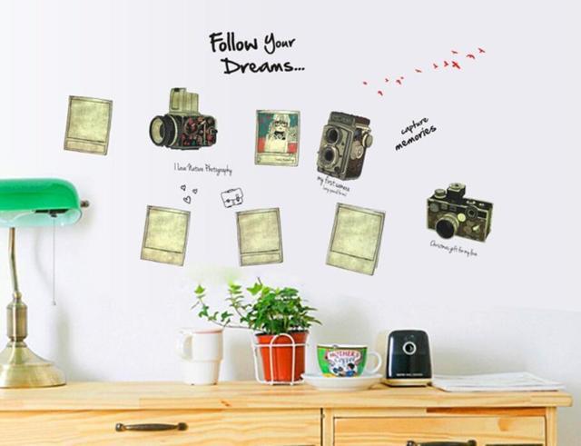Следуйте за своими мечтами фото пейзаж стена наклейки спальня украшение 7032 камера наклейки для дома декор гостиная отличительные знаки