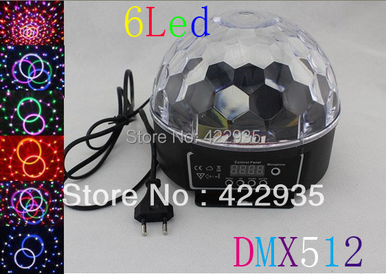 Sty led6 Channel DMX512 Control Digital LED RGB Crystal Magic Ball Effect Light DMX Disco DJ Stage Lighting - JUGAL Stationery Store store