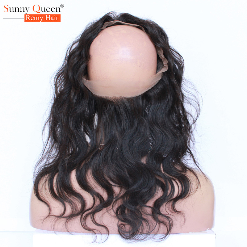 360 Lace Frontal Closure 22.5*4*2 Inches Brazilian Virgin Hair Body Wave 360 Lace Virgin Hair New 360 Frontal With Baby Hair