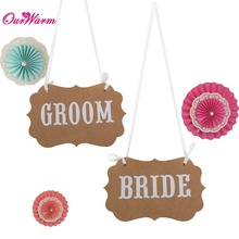 Buy Garland Banner MR MRS/BRIDE GROOM Photo Props Chair Signs Photo Booth Wedding Party Decoration for $1.41 in AliExpress store