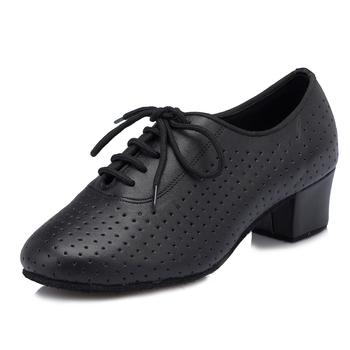2015 Brand Female cowhide Women's Latin dance shoes Ballroom dancing shoes Teachers shoes Fashion punch Genuine leather shoes