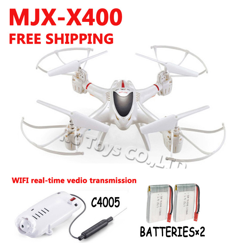 Здесь можно купить  MJX X400/X400-1 RC HD camera drones fpv 2.4G 4CH 6-Axis Real-time video RC Helicopter drone Quadcopter add 2pcs battery as gift  Игрушки и Хобби
