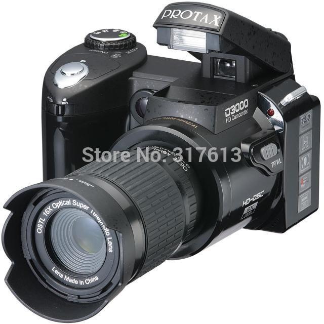 "New types D3000 HD Digital Camera Photos 16MP 3.0 ""LTPS Screen, Appareil photo reflex+16 Times Telephoto Lens +Wide Angle Lens(China (Mainland))"