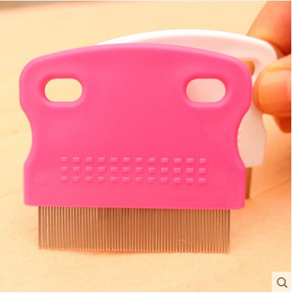 Free shipping Anoplura flea comb cheopis cootie stainless steel lice comb Grooming brush for children pet dog cat flea comb(China (Mainland))