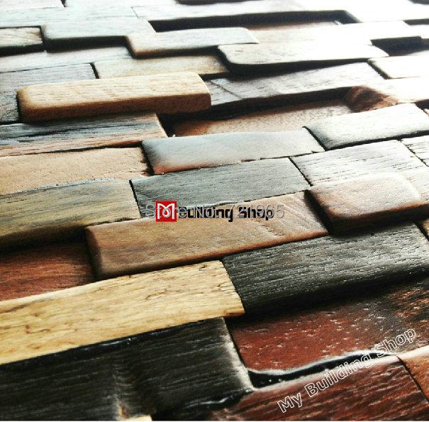 Ancient wood mosaic kitchen backsplash tiles NWMT070 3d natural wood mosaic tiles wood wall tiles mosaics pattern<br><br>Aliexpress