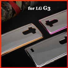 G 3 Luxury original back battery silicon silicone clear soft tpu cases gold mobile phone Case Cover for Lg G3 D851 D855 d850