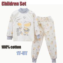 2Pcs/Set Boys Girls Grey Cartoon Pig Children Clothing Sets Baby Girl Boy Set T Shirt And Pants Kids Clothes Cozy Soft