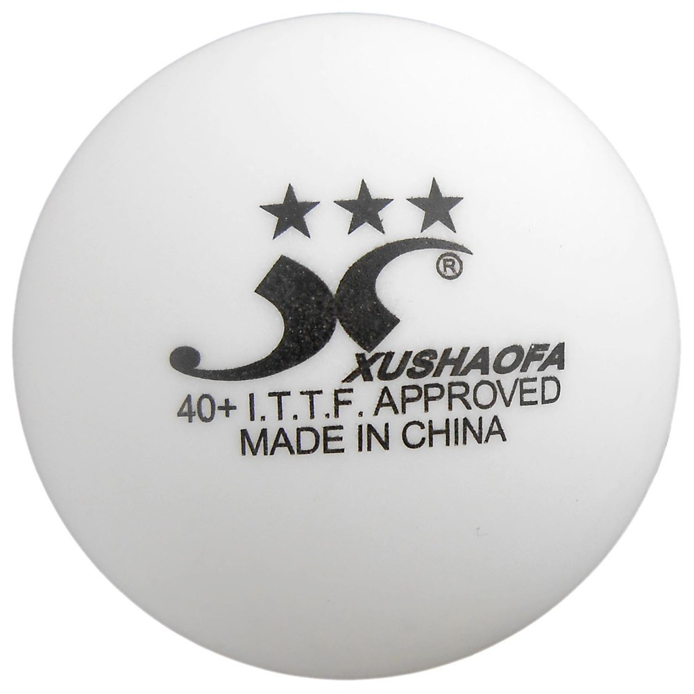 XUSHAOFA New Materials 40+ Table Tennis Balls, White (3 Stars)<br><br>Aliexpress