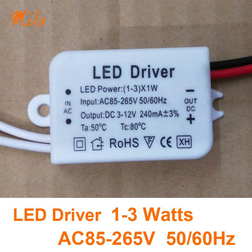 3x1W led driver,LED power transformer,Input:AC85-265V,50/60Hz.Output:DC3-12V,300mA,be used for 3W downlight panel light etc(China (Mainland))
