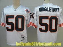 Stitiched,Chicago Bears,Jim McMahon,William Perry,Walter Payton,Dick Butkus,Gale Sayers,Mike Singletary,Throwback for men(China (Mainland))