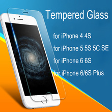 Real Premium Tempered Glass Screen Film for iPhone 4 4S 5 5S SE 5C 6/6S 6/6S Plus Tempered Glass Screen Protector Film