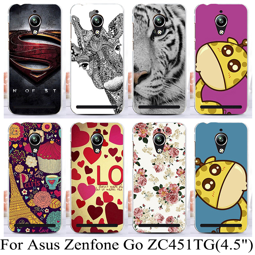 """Colorful Painting Plastic Phone Case For Asus Zenfone Go ZenFoneGo ZC451TG 4.5"""" Case Cover Phone Shell Bag(China (Mainland))"""