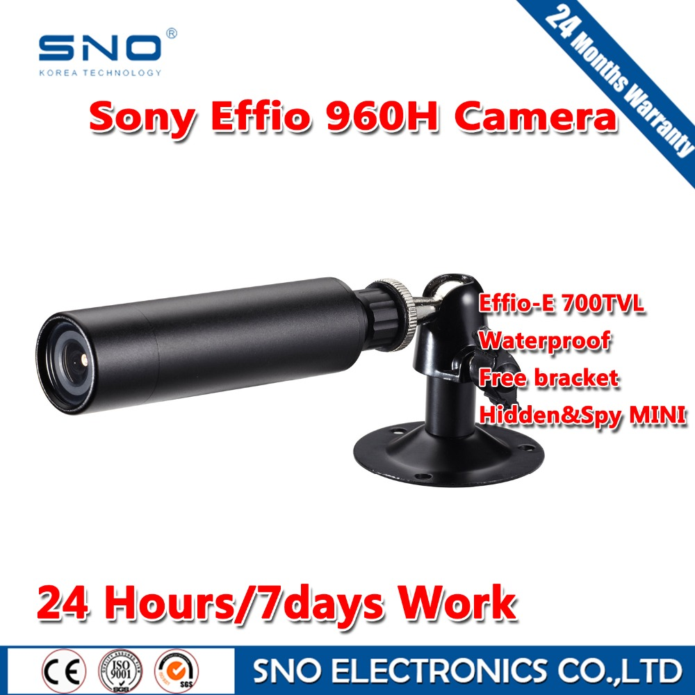 SNO Brand Analog HD 700TVL Sony Effio CCD Color 3.6mm Lens Mini Bullet CCTV Waterproof outdoor Security Camera for cctv 960h dvr(China (Mainland))