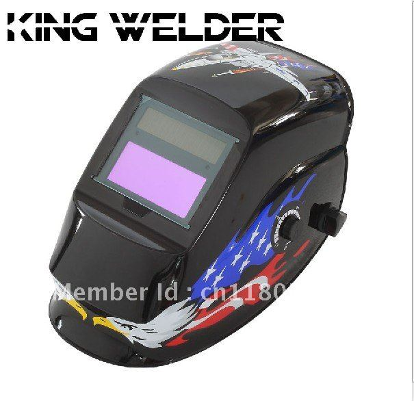 USA flag apperance Manufacture selling solar auto darkening welding protection face mask for the welder use(China (Mainland))