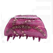 2015 Rhinestone Hair Claw Multi Color Women Acrylic Fine New kawaii Korean Hair clip Wholesale