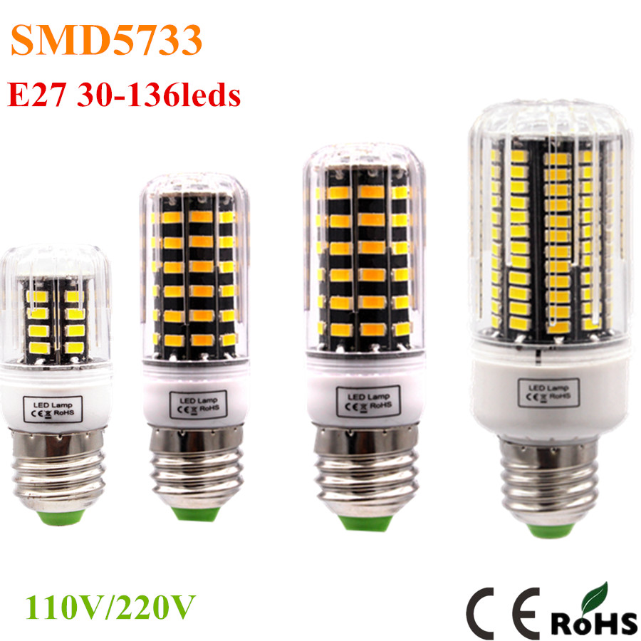 High Luminous E27 E14 5733 SMD LED Corn Bulb 220V 110V 3W 4W 5W 6W 7W 10W Spotlight LED Lamp Candle Light For home Lighting(China (Mainland))