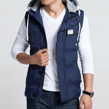 Plus size M-5XL Mens vest winter wadded jacket vest outerwear coat Y142 P75(China (Mainland))