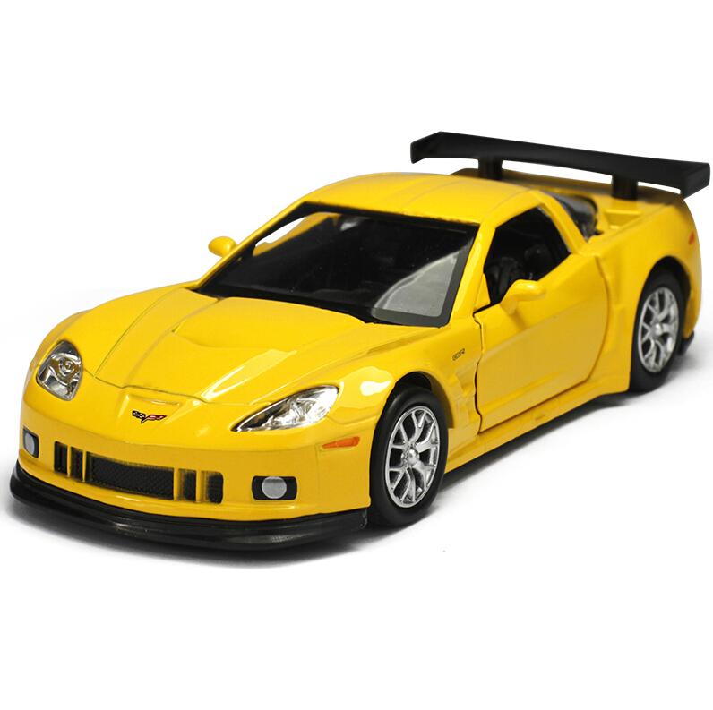 Brand New RMZ City Corvette 1/36 Scale Chevrolet Corvette Diecast Vehicles Model Car Toys Best Gift for Children Black Yellow(China (Mainland))