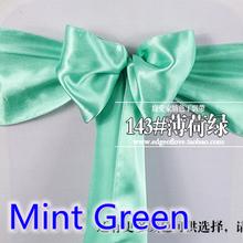 Мята зеленый атлас ( 100 pcs/lot ) / бант створки для крышка стул / ну вечеринку и свадьба украшение