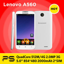 "5.0"" Original Lenovo A560 + Screen Protector + Plug Adapter if necessary + Multilang-ROM Updating Sevice(China (Mainland))"