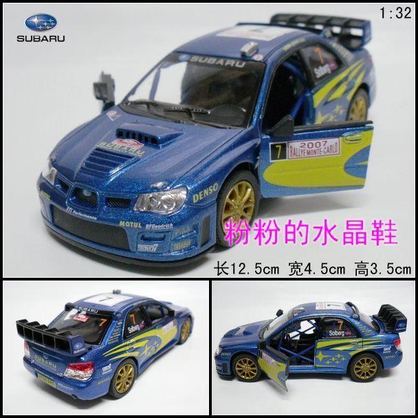 free shipping Soft world artificial car model toy car alloy car model SUBARU automobile race blue