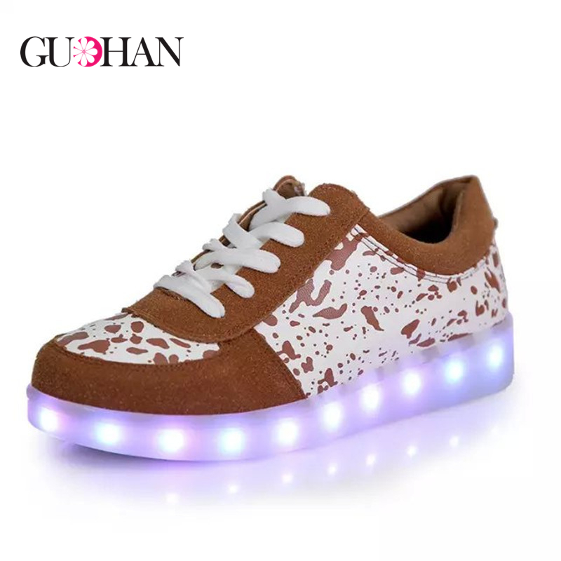 Led Shoes for Adults 8 Colors Flats Shoes Chaussure Led Unisexe Usb Charging Lights Emitting Men/Women Couple Casual Shoes<br><br>Aliexpress