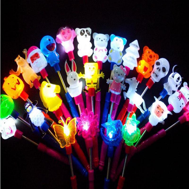 Boy Girl LED Magic Wand Flashing Lights up Glow Sticks Party Concert Xmas Halloween Cartoon Animal(China (Mainland))