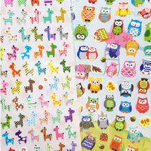 1 Sheet Owl Giraffe Print Toy sticker Cute Drawing Market Diary Transparent Scrapbooking Calendar Album Deco Sticker(China (Mainland))