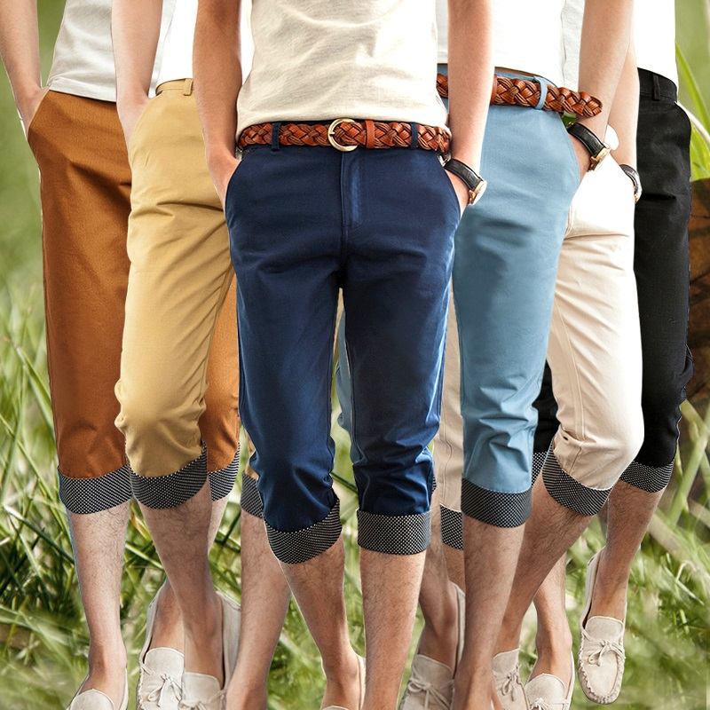 Aliexpress.com : Buy Summer 2015 men's Capri Pants Korean Slim ...