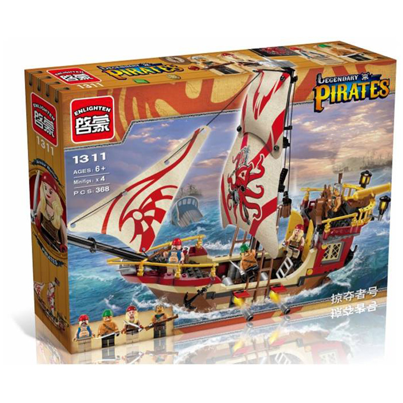 Hottest Ancient Blocks Pirate Warship Building Blocks Toys Construction Brick Toys Educational compatible With Legoed Lbk