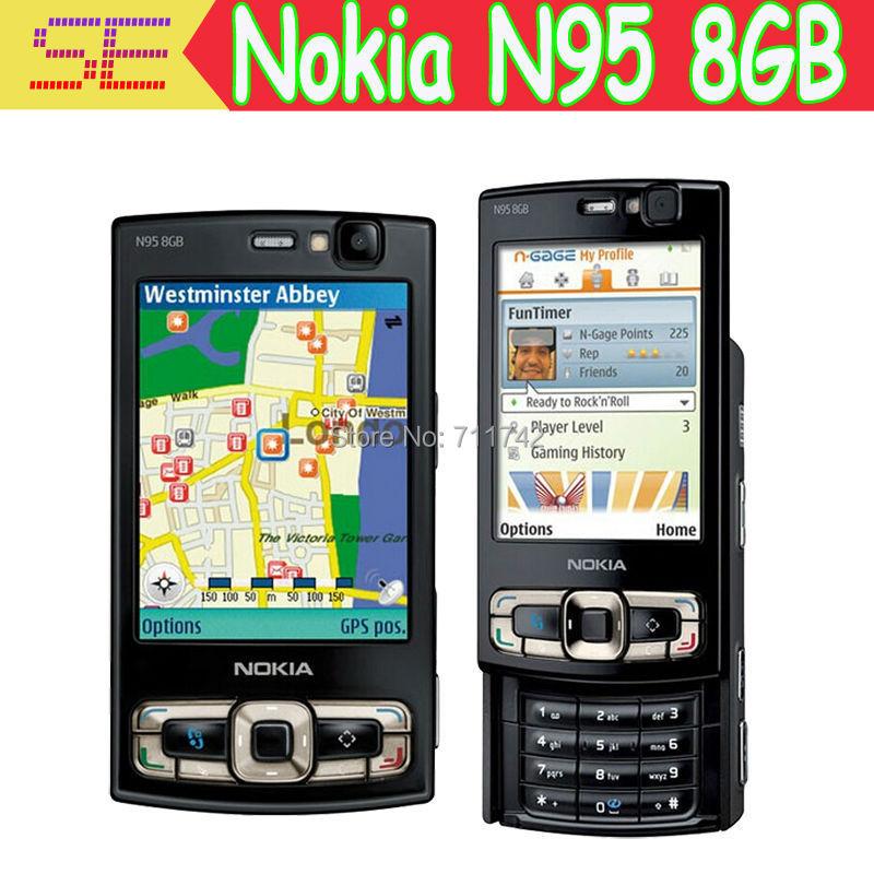 NOKIA N95 8GB Mobile Phone 3G 5MP Wifi GPS 2.8''Screen GSM Unlocked Smartphone Russian keyboard Arabic Keyboard(China (Mainland))