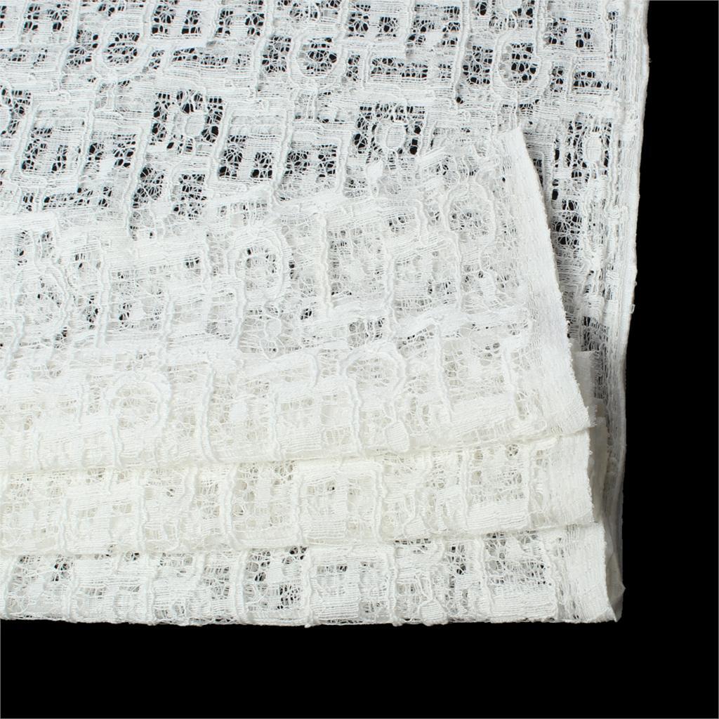 Хлопок ткань жаркой Африканской Нигерии гипюра швейцарский шнурок маркизета высококачественные водорастворимые кружева для свадебных платьев Белый 1,5 м х 2м