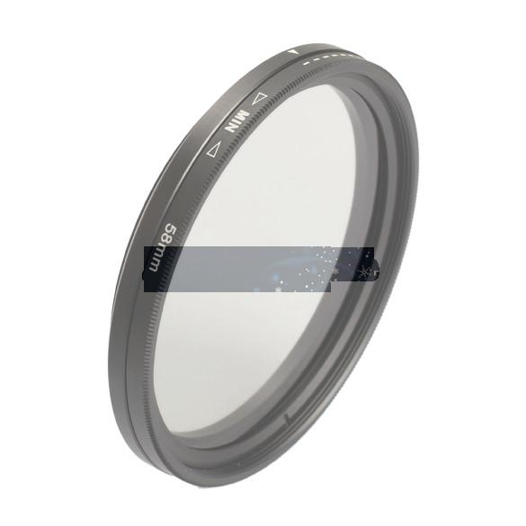 Hot Sale Slim Fader 58mm Variable ND Filter Adjustable ND2 to ND400 Neutral Density ASAF Free Shipping(China (Mainland))