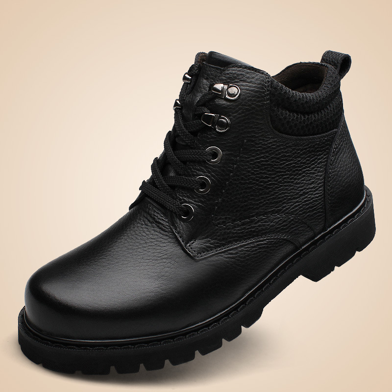 2014 new England men's winter large size plus velvet padded leather snow boots big shoes - Happy happy shopping store