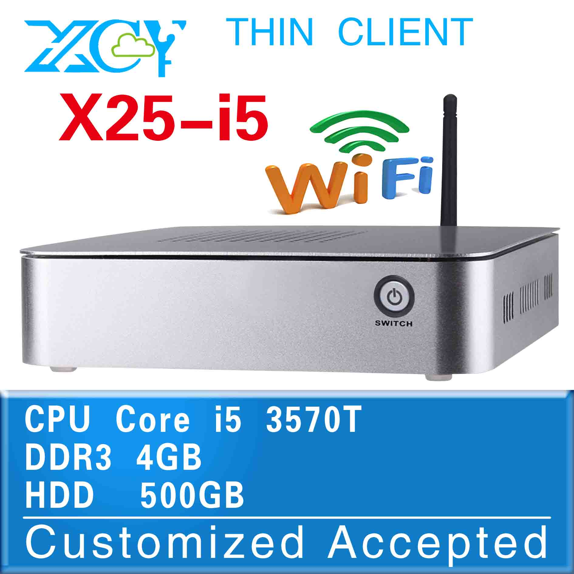 micro industrial pc linux mini server thin client support full screen movies x25-i5 3570T Hot sale(China (Mainland))