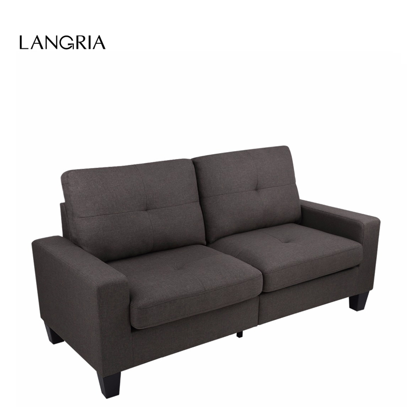 LANGRIA 71-Inch Linen Modern Fabric US LOVESEAT 3 Sofa Couch Set Living Room Furniture With Liln-Dried Solid Wood Frame(China (Mainland))