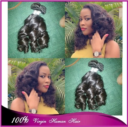 Stock 8A top quality 3pcs/lot 1b# funmi curly virgin russian hair meril bouncy curl aunty funmi hair free shipping<br><br>Aliexpress